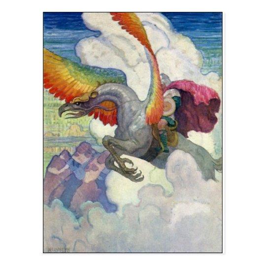Dragón del arco iris postal