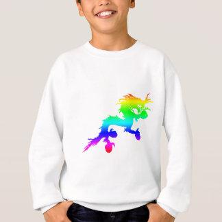 Dragón del arco iris sudadera