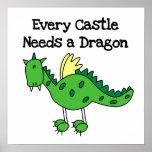Dragón del castillo impresiones