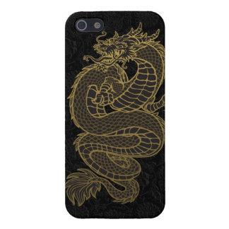 Dragón del chino del oro iPhone 5 protectores