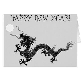 Dragón del invierno de la Feliz Año Nuevo Tarjeta