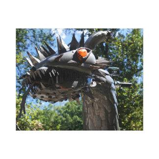 Dragón del motorista lienzo