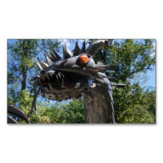 Dragón del motorista tarjeta de visita magnética