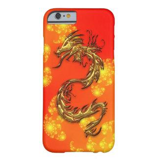 Dragón del oro y caja tribales del teléfono del funda de iPhone 6 barely there