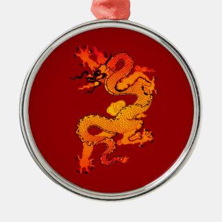 Dragón del oro y del naranja por Año Nuevo chino Ornamentos De Reyes Magos