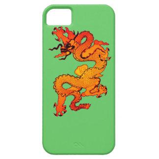 Dragón del oro y del naranja por Año Nuevo chino iPhone 5 Cárcasa