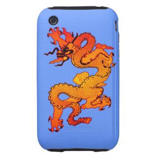 Dragón del oro y del naranja por Año Nuevo chino Tough iPhone 3 Coberturas