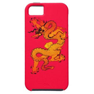 Dragón del oro y del naranja por Año Nuevo chino iPhone 5 Case-Mate Carcasas