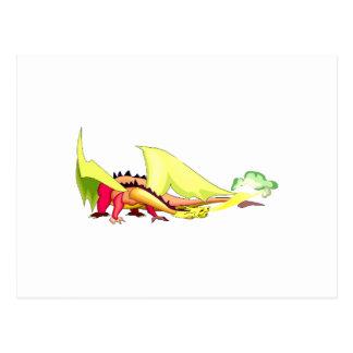 Dragón del respiradero del fuego de la fantasía postal