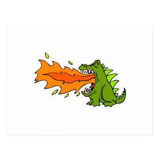 Dragón del respiradero del fuego postal