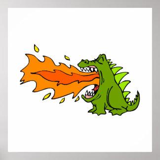 Dragón del respiradero del fuego impresiones