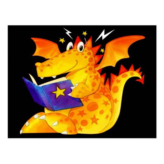 Dragón divertido de Halloween del niño Postal