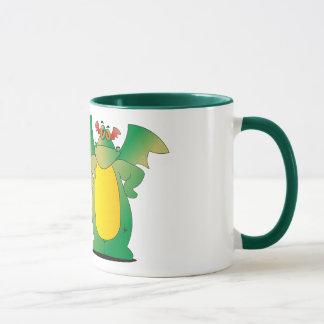 Dragón en el entrenamiento taza