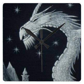 Reloj Cuadrado Dragón en el reloj de pared de la noche