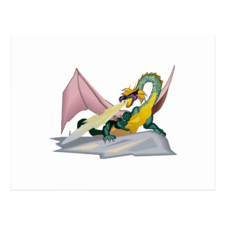 Dragón enojado del respiradero del fuego de la postal
