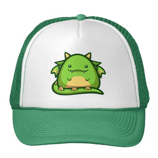 ¡Dragón HatChubby de los cachos poco dragón! ¡Lind Gorro De Camionero