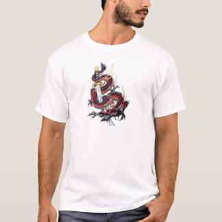 Dragón japonés Katana de Sui Riu Camiseta