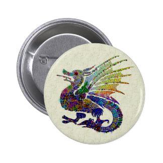 Dragón Jeweled Chapa Redonda De 5 Cm