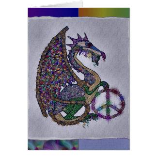 Dragón Jeweled de la paz Tarjeta De Felicitación