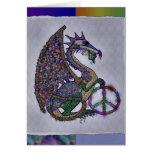 Dragón Jeweled de la paz Tarjeton