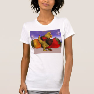 Dragón lindo feliz del remiendo del día de madre camisetas