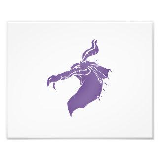 Dragón malo .png purpúreo claro impresión fotográfica