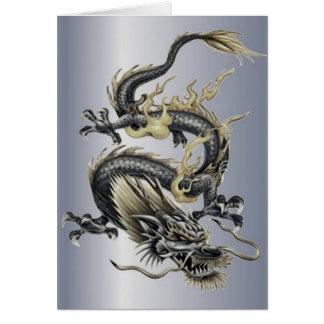Dragón metálico tarjeta