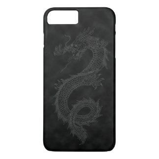Dragón negro del humo del vintage funda iPhone 7 plus