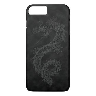 Dragón negro del humo del vintage funda para iPhone 8 plus/7 plus