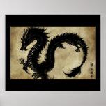 Dragón negro impresiones