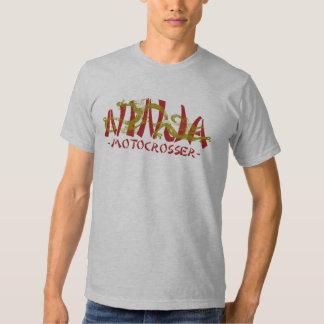 Dragón Ninja de Motocrosser Camisas