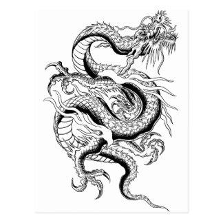 Dragón oriental postal