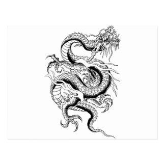 Dragón oriental tarjeta postal