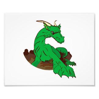 Dragon.png verde Foreshortened Impresion Fotografica