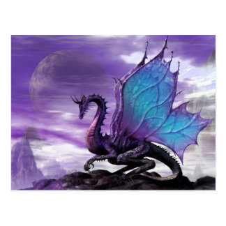 Dragón púrpura postal
