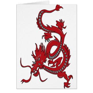 Dragón rojo - año del dragón tarjetas