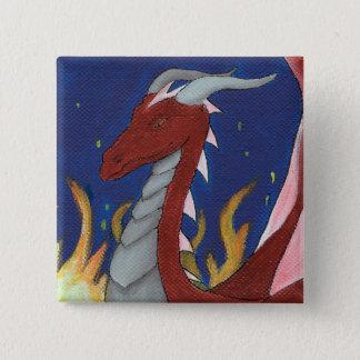 Dragón rojo chapa cuadrada