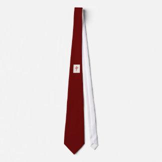 Dragón rojo corbata personalizada