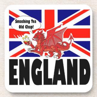 Dragón rojo de País de Gales Posavasos De Bebida