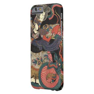 Dragón rojo japonés del vintage funda para iPhone 6 barely there
