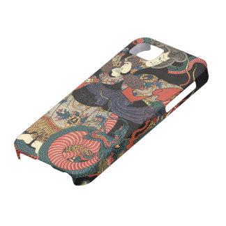 Dragón rojo japonés del vintage iPhone 5 protector