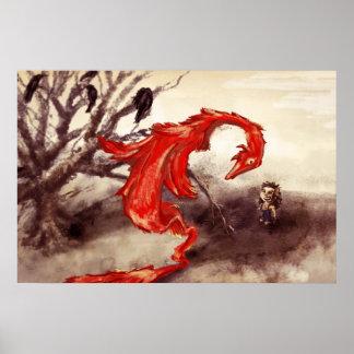 Dragón rojo póster