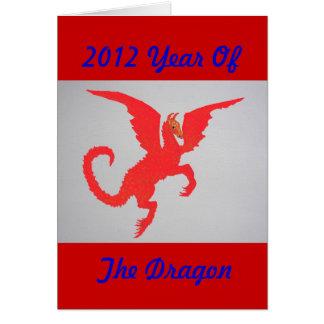 Dragón rojo tarjeta de felicitación