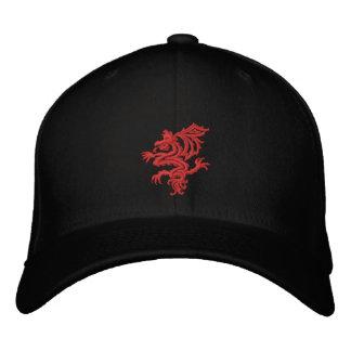 dragón rojo tribal gorras bordadas
