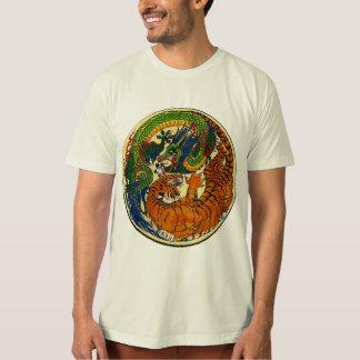 Dragón/tigre Yin Yang Camiseta