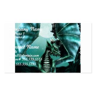 Dragón triste tarjeta de visita