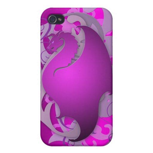 Dragón urbano rosado 4g I de la fantasía iPhone 4/4S Carcasa