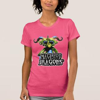 Dragón verde American Apparel T, fucsia del MD Camisetas