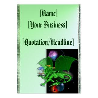 Dragón verde del universo profilecard_chubby_verti tarjeta de visita