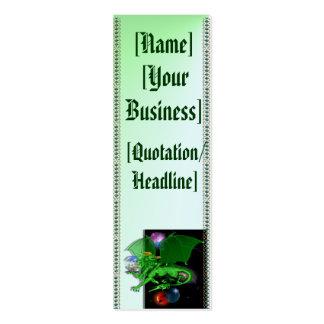 Dragón verde del universo profilecard_skinny_verti plantillas de tarjetas personales